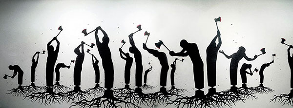 Killing Ourselves by Pejac