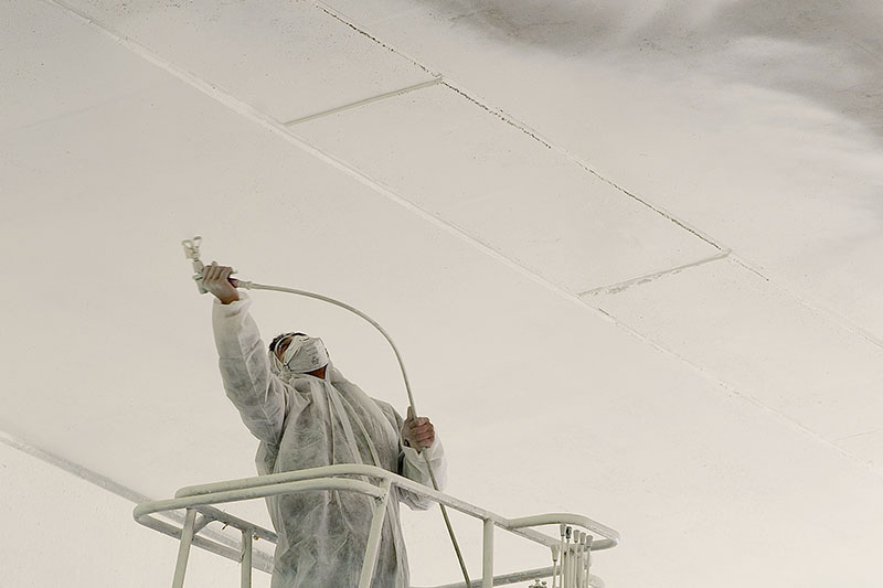 Spray painting your commercial ceiling